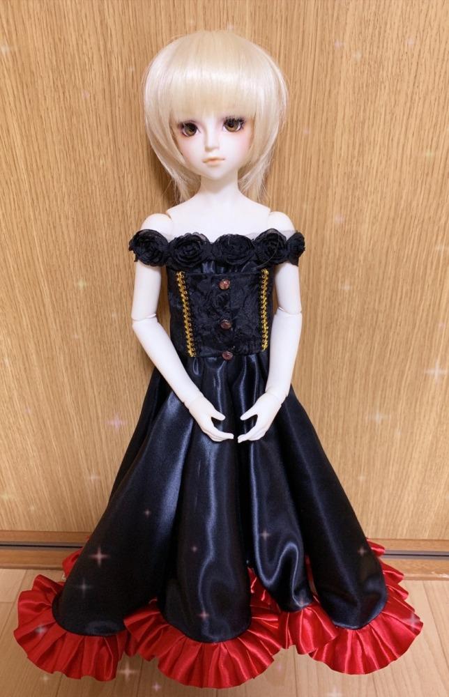 試作品 薔薇オフショルロングドレス